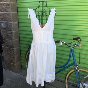 ZARA WHITE COTTON SUN DRESS SIZE MEDIUM LOVELY